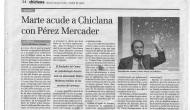 "Cronica del Diario de Cádiz de Jesús: ""Juan Perez Mercader trae Marte aChiclana"""