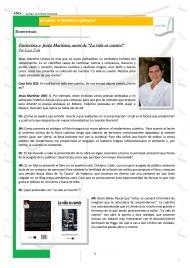 Entrevista a Jesús Martínez en la Revista literaria LetrasTRL